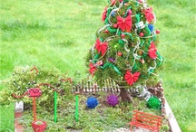 Miniature christmas garden