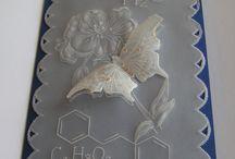 papírová krajka - pergamano / přáníčka vyrobená technikou papírová krajka
