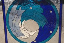 Beach Themed Stained Glass! / Stained glass pieces inspired by the ocean and sea creatures!