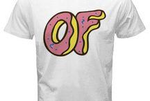 Odd Future OF Dougnut White T-Shirt Men and unisex