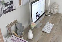 DESK • escritorios / Place to work, inspiration walls. Office. Craft corner Lugar de trabajo, espacio para manualidades