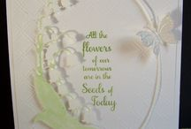 Cards - Lily of the valley frame