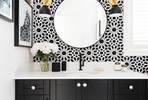 Black in a bathroom