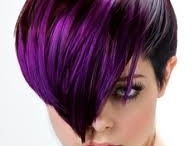 """Urban Color Streaks / These are intense primary colors which are foiled into the hair to give an """"edgy"""" feel to your style"""