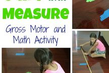 Measurement and Numbers Theme- Weekly Home Preschool / Homeschool preschool ideas for a measurement and numbers theme week.  Crafts, learning activities, math, science, gross motor, fine motor, picture books, snacks, music, and more!