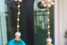 Silk earings