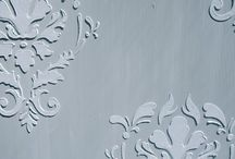 Raised Stencils - Furniture / Here's an interesting way to add some extra detailing to your painted furniture. Rather than paint on a stencil pattern, create a raised stencil on your piece. This adds extra dimension and interest and looks amazing when dark waxed or glazed to bring out the highlights!
