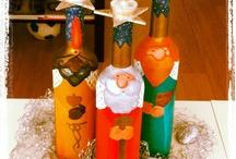 Botellas y jarrones decorados