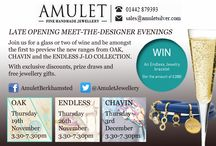 Meet the Designer / Jewellery events in Berkhamsted - meet designers and enjoy a glass of wine, free jewellery gifts and exclusive discounts.