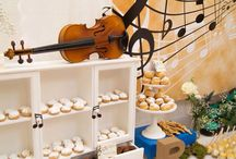 Music Note Themed Sweet Table / Music Note Sweet/Dessert Table