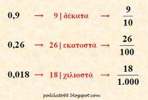 δεκαδικοι αριθμοί