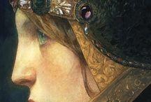 The profile in art