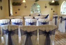 Midnight Blue & Ivory Wedding / Beautiful midnight blue & ivory wedding in Woodbridge.