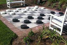 backyard pavers chess