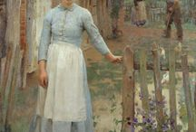 [1852 - 1944] George Clausen - Realism / Sir George Clausen RA (18 April 1852 – 22 November 1944), was an English artist working in oil and watercolour, etching, mezzotint, dry point and occasionally lithographs. He was knighted in 1927.