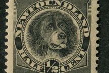 Dogs on Stamps / Different breeds of dogs, as seen on various postage stamps from the past