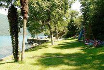 Biglietto da visita Bosco Boschetto Holiday / Biglietto da visita Bosco Boschetto Holiday, Villaggio, campeggio direttamente sulla spiaggia grande e privata, Bandiera Blu, a Cannobio Lago Maggiore(Piemonte)