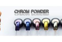 Pigment Effet Miroir Onglemod / Effet Miroir - Des pigments de différentes couleurs à frotter sur la couche de finition