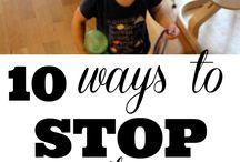 Peuter Disipline / Tips vir disipline
