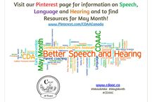 May Month / Resources for Parents, graphics, iInfographics, awareness ideas and pictures about Speech, Language, Hearing and other Communication Disorders #CDAAC #MayMonth #MoisDeMai