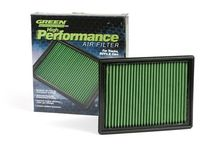 Corvette Green Performance Air Filters / Green High Performance Corvette Air Filters are designed to allow the maximum amount of airflow without sacrificing filtration. Each Green Air Filter is made by cross weaving one fine and one medium layer of cotton. This process produces a fabric that is thinner and stronger than other air filter materials and has the ability to trap dirt down to 5 microns.