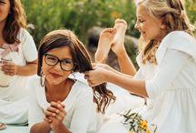 Little Girls / Little women in little q. dresses