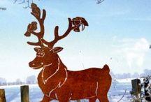 Weihnachtdeko, Gartendeko, rostig, Edelstahl, Metall, Eisen