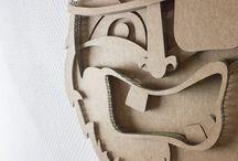 Cardboard masks / Handmade cardboard masks by Studio Uitslag. Perfect for home decoration
