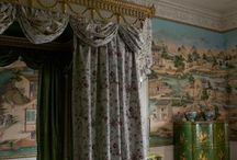 The East Bedroom / The East Bedroom is a beautiful and unusual room situated in Harewood House, Yorkshire. It is unique in its rare collection of Chippendale furniture and hand-painted Chinese wallpaper.