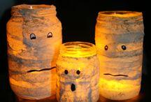 Halloween al tonno / Alcune idee per realizzare decorazioni di Halloween con lattine di tonno e vasi vetro.