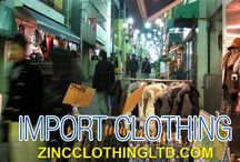 Import Clothing / Zinc Clothing import clothing as well. With a huge stock, it supplies clothing to both businesses and retailers at cost effective prices. Just browse the collection to avail apparels at fantastic rates.  http://zincclothingltd.com/about/