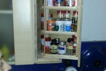 My pull out spice rack / building a hidden pullout and turn spice rack.