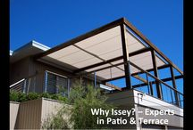 Patio & Terrace Shade / Whether it is simply shade that you want or if you want to be able to sit out in a downpour, Issey have got the perfect solution for you. Made from quality components by our team of specialist, with issey you can guarantee it just works.