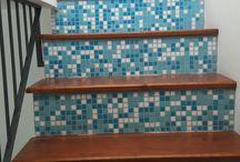 Scala decorata mosaico