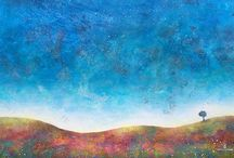 """Blue / Paintings by Ania Witwitzka and images related to the theme """"Blue"""""""