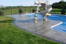 Stenciled concrete Pool Decks / We are a concrete contractor supply store with a selection of decorative concrete solutions to choose from. We also have the tools & supplies needed for the do it yourselfer. Visit our showroom today.