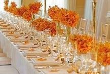 FALL Wedding / Autumn or fall weddings feature decoration, invitations, cakes, dresses and orange and brown touches to reflect the even theme