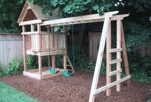 Cubby, sandpit and swing combo ideas