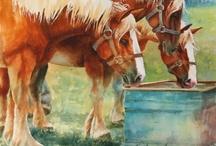 Oil and watercolor paintings: Ann Hoffpauir