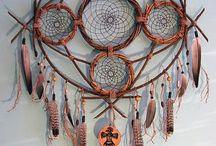 Mandala círculos y plumas