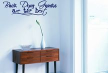 Entryway Decals / Welcome your guests with style! These wall decals give your entryway an inviting feel..