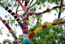guerilla knitting by grrl+dog / street art and installations I  have done / by Denise Litchfield