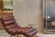Couro na decoração / O couro pode ser usado de diversas maneiras na decoração, confira lindas inspirações!