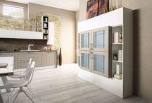 Progetti di cucine e living / Le cucine Arrex moderne, insieme alle cucine classiche, estendono i propri confini ai mobili per soggiorno,  in uno spazio aperto capace di gestire tutte le funzioni del vivere quotidiano, favorendo la socializzazione e la condivisione