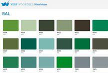 Groen / Verf-Voordeel   Laat u inspireren door de groene tinten in de kleurwaaier van verf-voordeel.nl. #Inspiratie #Wonen #Verf #Groen