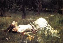 Paintings & Sketches / Mainly late 19th and early 20th century art. Pre-Raphaelite & Late Romanticism.