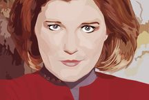 Kate Mulgrew Fan Art / Art by Fans / by TK Webmaster