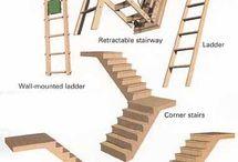 Půdní schody.