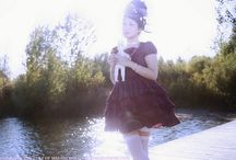 Sugar Sparkle / A beautiful photoshoot featuring pastel sweet lolita inspired clothing in a dreamy landscape of sparkles and swans.