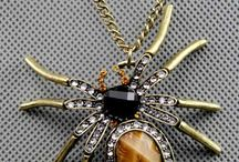 Brooches, Pendants, Bracelets, Rings and Earrings / spider means good luck ...
